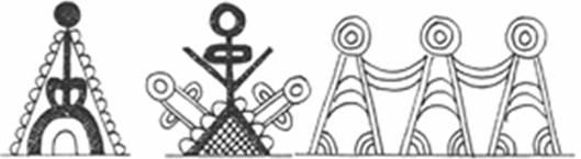 fafaragás - geometrikus alakábrázolások