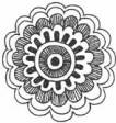 fafaragás - rózsa motívum